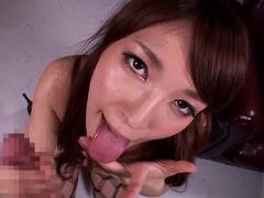 Godlike Buxomy Japoneză Kokomi Sakura Îndrăgostită De Facials