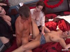 Brunette Sex Video From Emilia Austin, Veronica Avluv And Veruca James