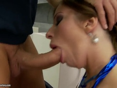 Sexy Breasty Debbie White In Real Blowjob Video