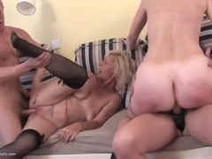 Nice Old Woman With Wild Group Sex