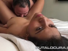 Teasing Busty Latin Whore Showing A Video About Work