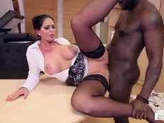 Comely Busty Vivian Glass In Hot Interracial Performance