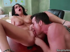 Lovely Brunette Madelyn Monro Blowing Cock